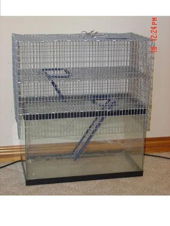 10 gallon Two Story Aquarium Cage Topper Top Door Hamster Gerbil Rat