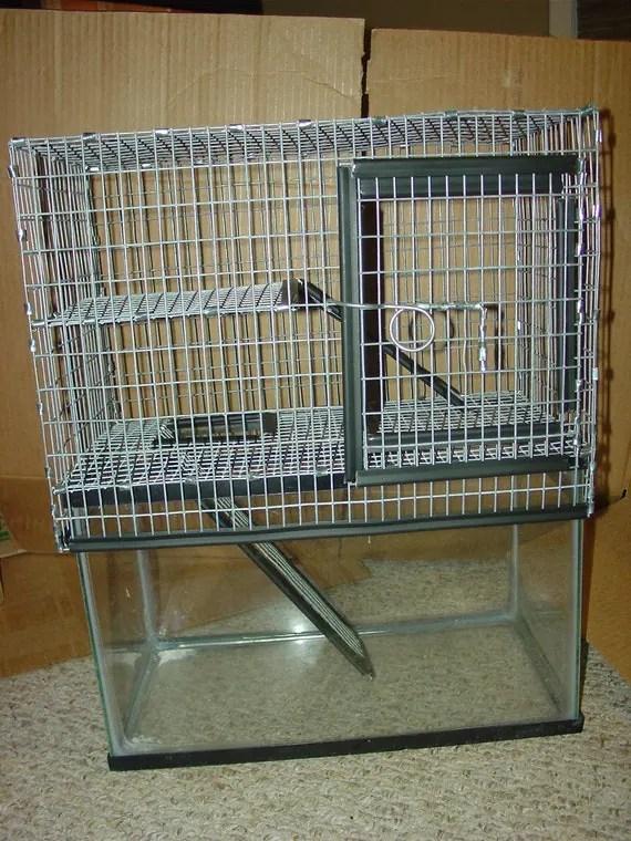 10 Gallon Aquarium Cage Topper Split Level Front Door