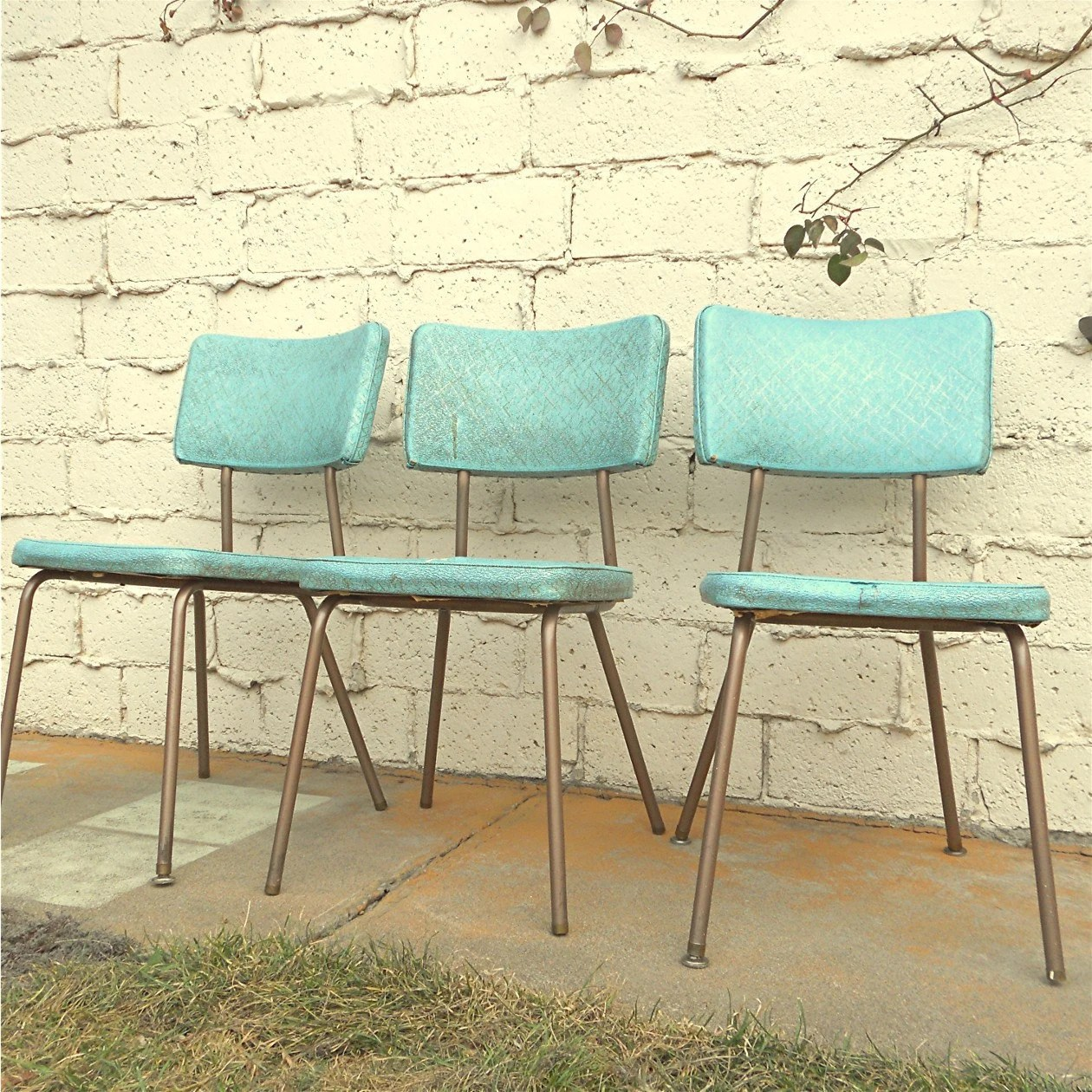 vintage kitchen chairs three vinyl turquoise kitchen chairs zoom
