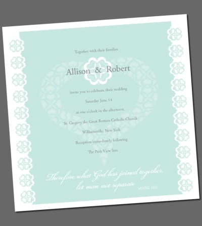Items similar to Wedding invitation with Bible verse ...