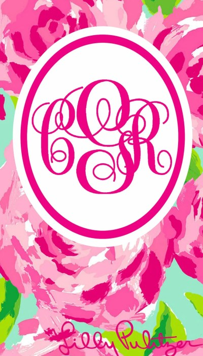 Monogrammed Lilly Pulitzer iPhone Wallpaper by ElloreeGrace