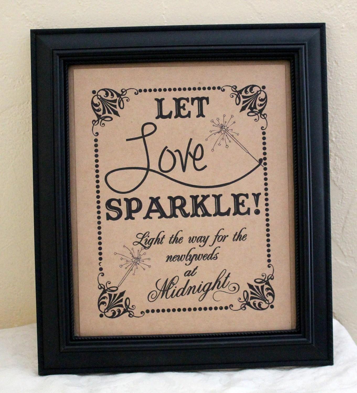 8 10 let love sparkle wedding sign wedding send off ideas zoom