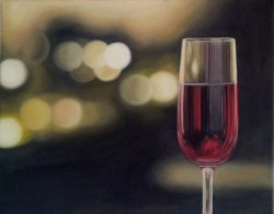 Wine Glass Oil Painting Photo