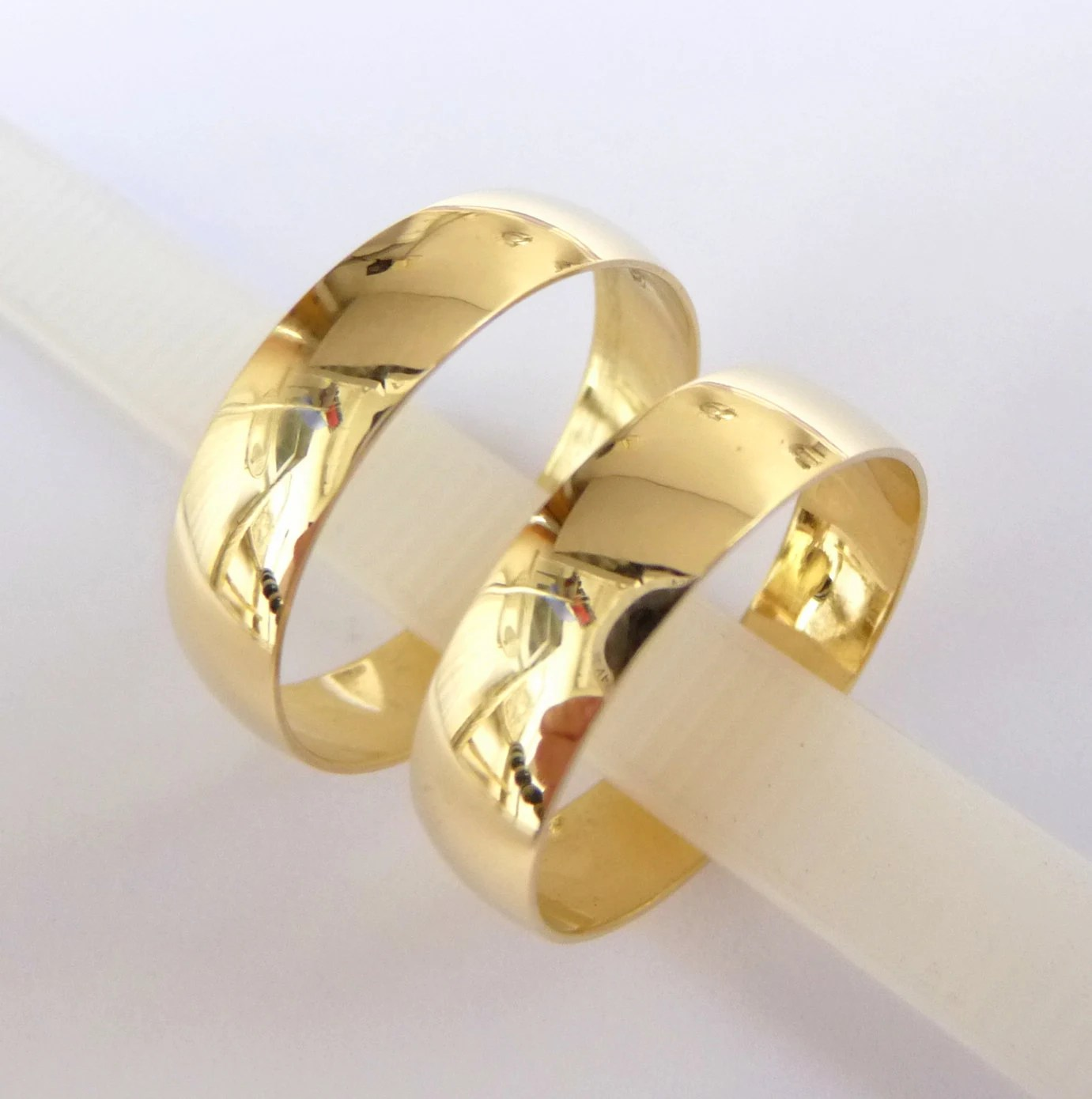 wedding bands set womens mens wedding wedding band rings Rings gold 5mm wide wedding bands zoom