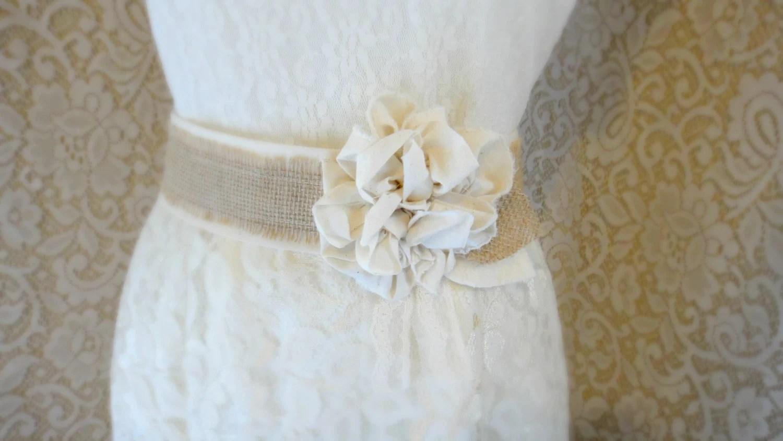 burlap wedding sash wedding belts Burlap Wedding Sash Rustic Southern Barn Wedding Bridesmaid Rustic Chic Burlap Belt Bridal Sash