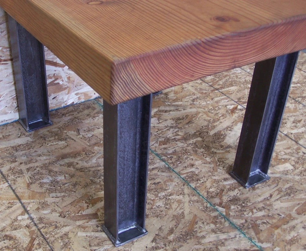 industrial desk or dining table legs metal kitchen table Dining Table Legs Heavy Structural Steel zoom