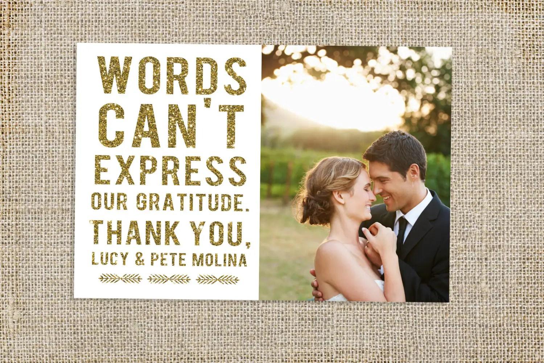 glitter wedding thank you card design thank you cards wedding Glitter Wedding Thank You Card Design zoom