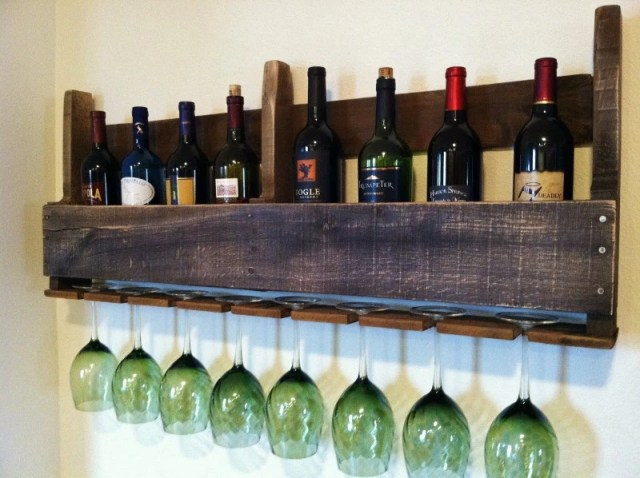 Rustic Wine Rack via Etsy
