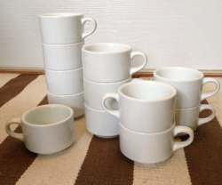 Small Of Plain White Tea Cup