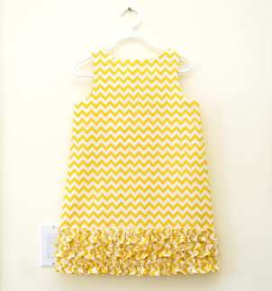 Kids Print Chevron Dress from Palm Valley Kids on Etsy