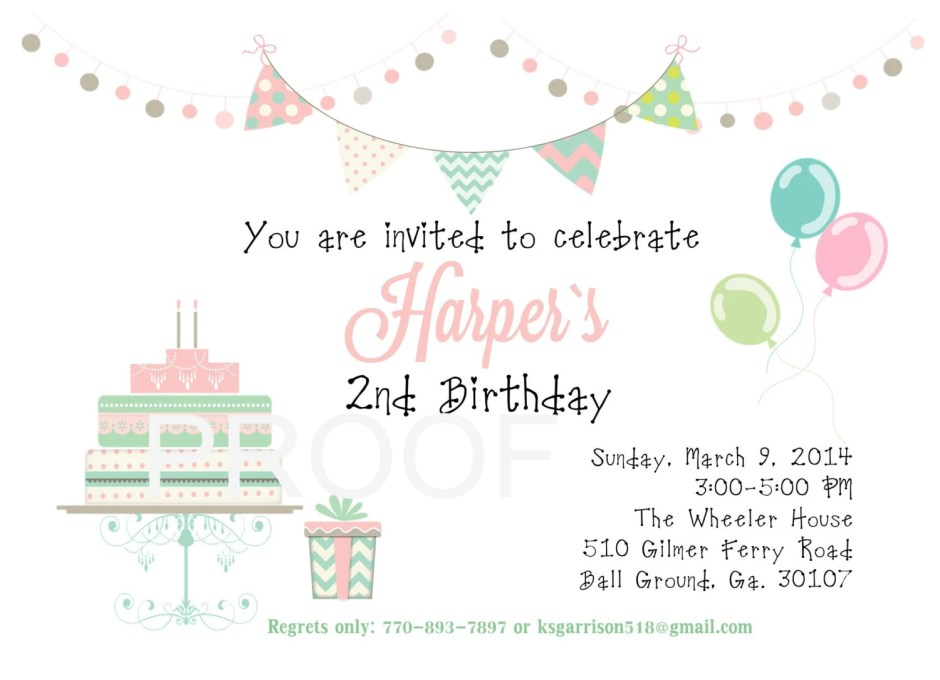 Digital birthday invitati...