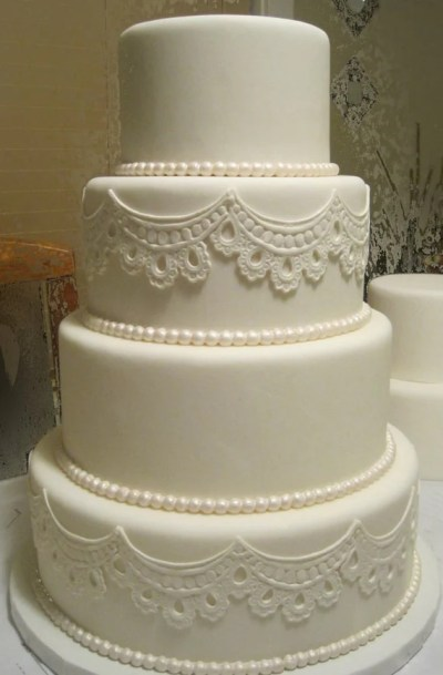 Four Tier Fondant Wedding Cake Fake Wedding Cake Faux
