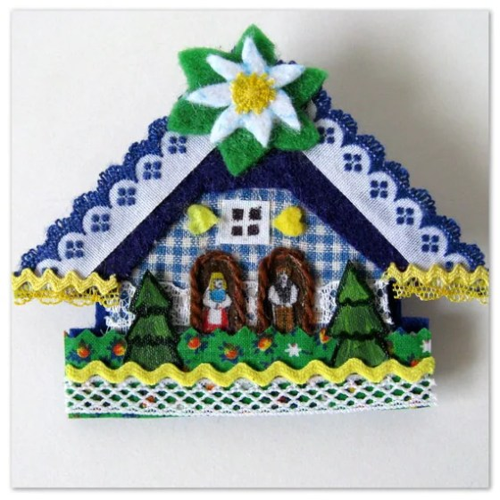 modflowers: weather house brooch by Happy as a Lark