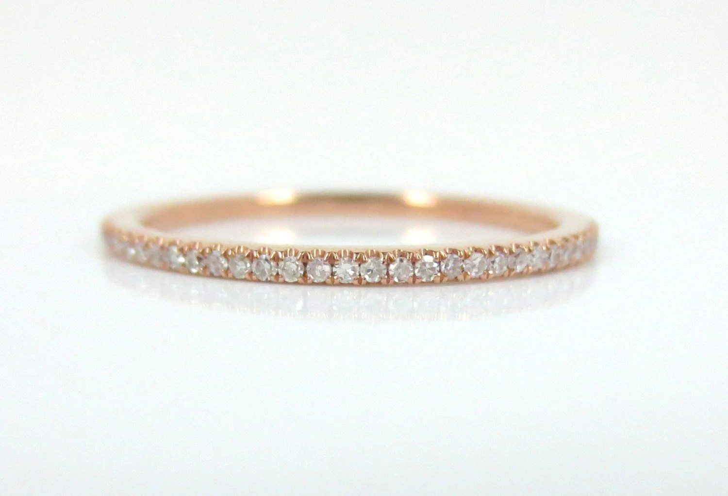 micro pave diamond eternity band in 18k micro pave wedding band zoom
