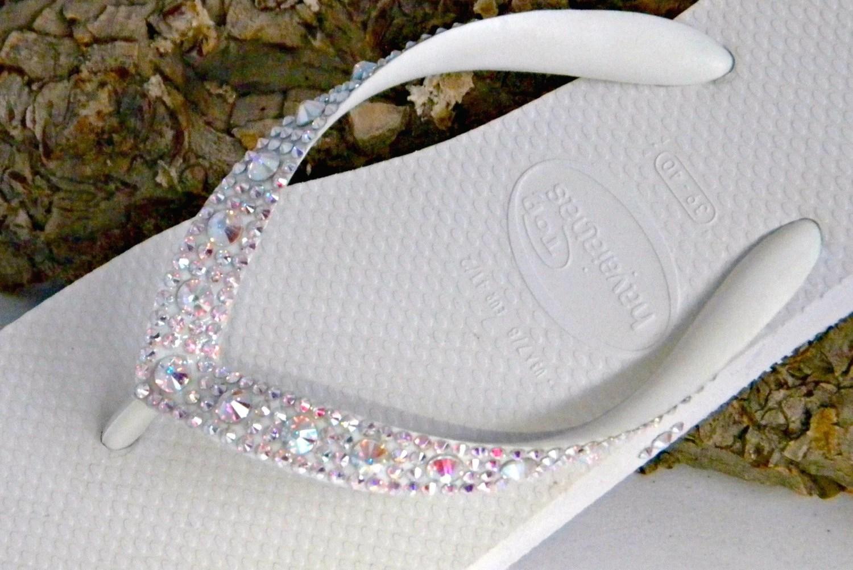 glass slippers w swarovski crystal ab wedding slippers zoom