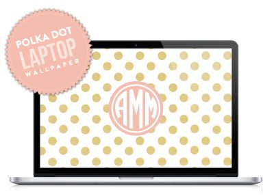 Polka Dot Monogram Laptop Desktop Wallpaper by DesignbyDre on Etsy