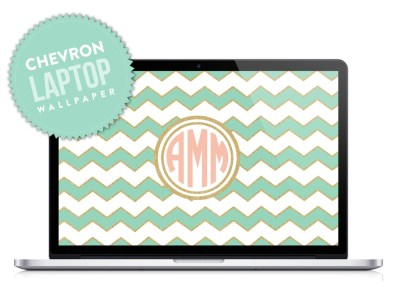 Chevron Monogram Laptop Desktop Wallpaper by DesignbyDre on Etsy