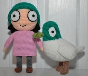 Amigurumi Crochet Doll Sarah & Duck Pdf Pattern