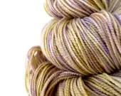 Soft spring sunshine: undergrowth - hand dyed yarn, merino wool cashmere nylon fingering sock yarn, 2 ply, kettle dyed, neutral pale yellow green yarn sublime