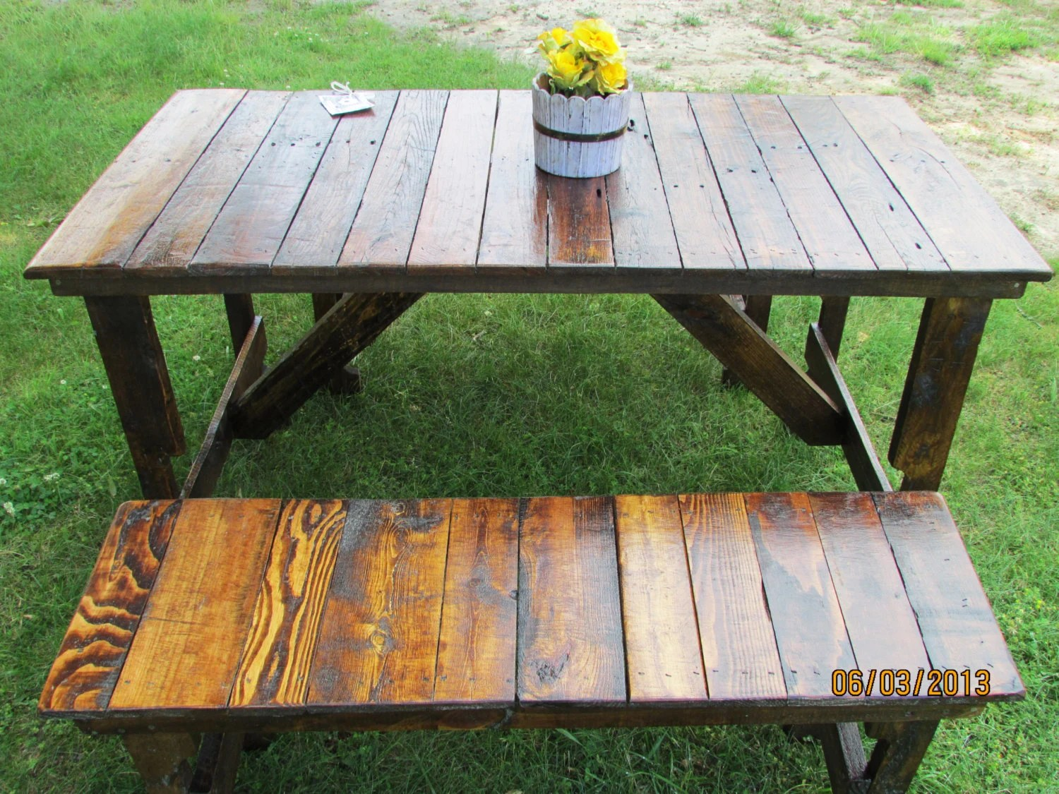 5 rustic kitchen table 2 bench set kitchen table benches zoom