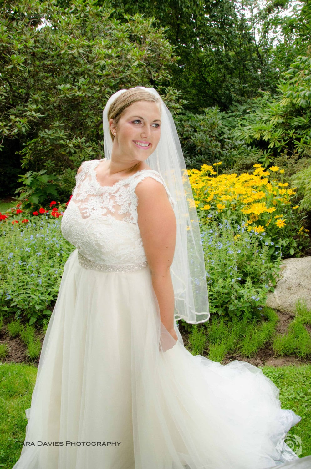 plus size wedding dress silk lace and strapless tulle wedding dress zoom