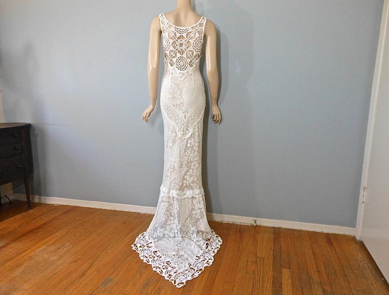 handmade hippie wedding dress crochet handmade wedding dresses zoom