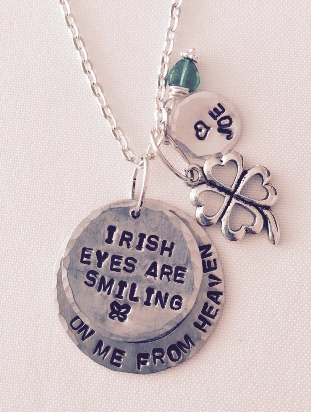 Personalized Hand Stamped Charm Love  Memory Necklace