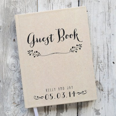 Wedding Guest Book Wedding Guestbook Custom Guest Book