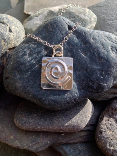 JOURNEY... a travelers protection sterling silver spiral