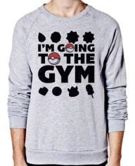 I'm Going to the Gym Sweater - Pokemon Shirt, Pokemon Sweater, Anime, Retro, Gaming, Geek, Tshirt, T Shirt, shirts, apparel, clothing,