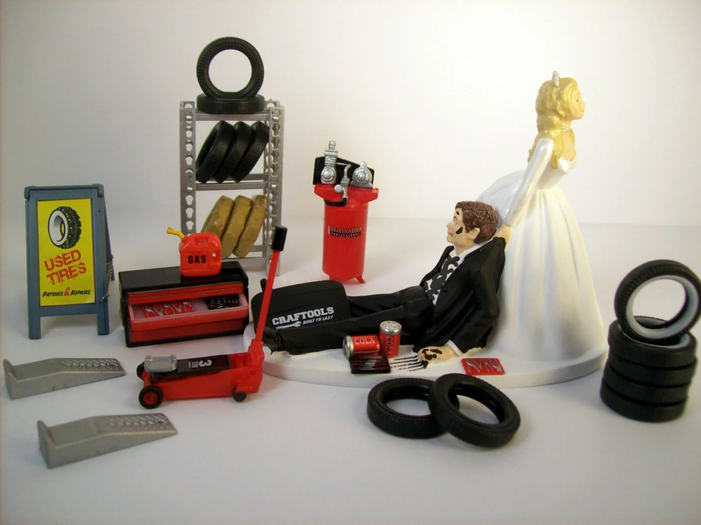 funny wedding cake topper mechanics auto mechanic wedding ring zoom