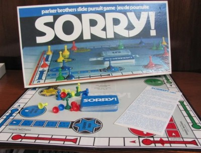 Vintage Sorry Board Game 1972 Parker Brothers