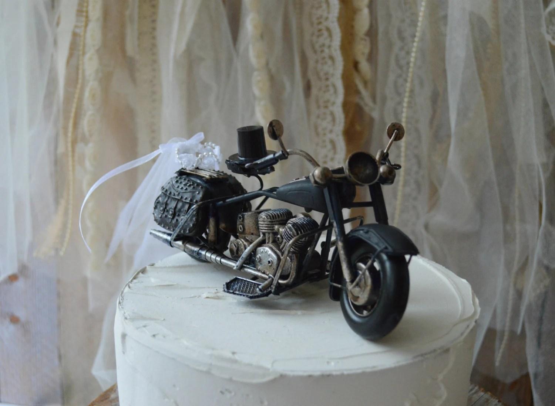 motorcycle wedding cake topper harley davidson wedding bands zoom
