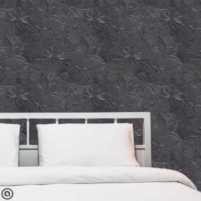 Removable Wallpaper Embossed Tin Peel & Stick Self Adhesive