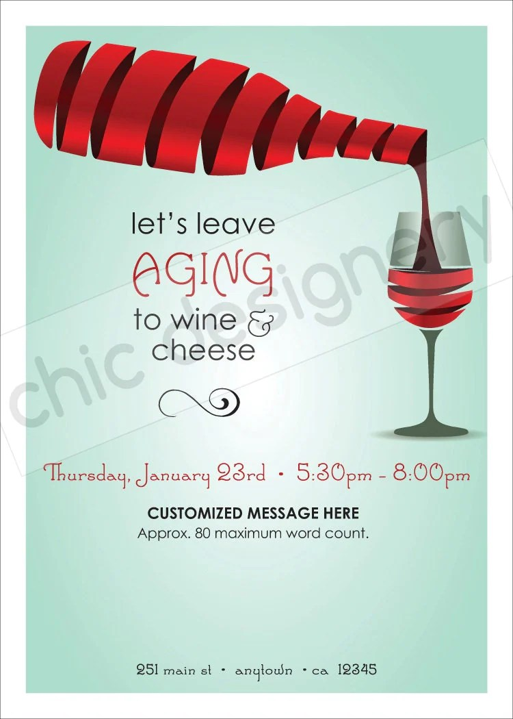 Christmas Wine And Cheese Party Invitations | Invitationswedd.org