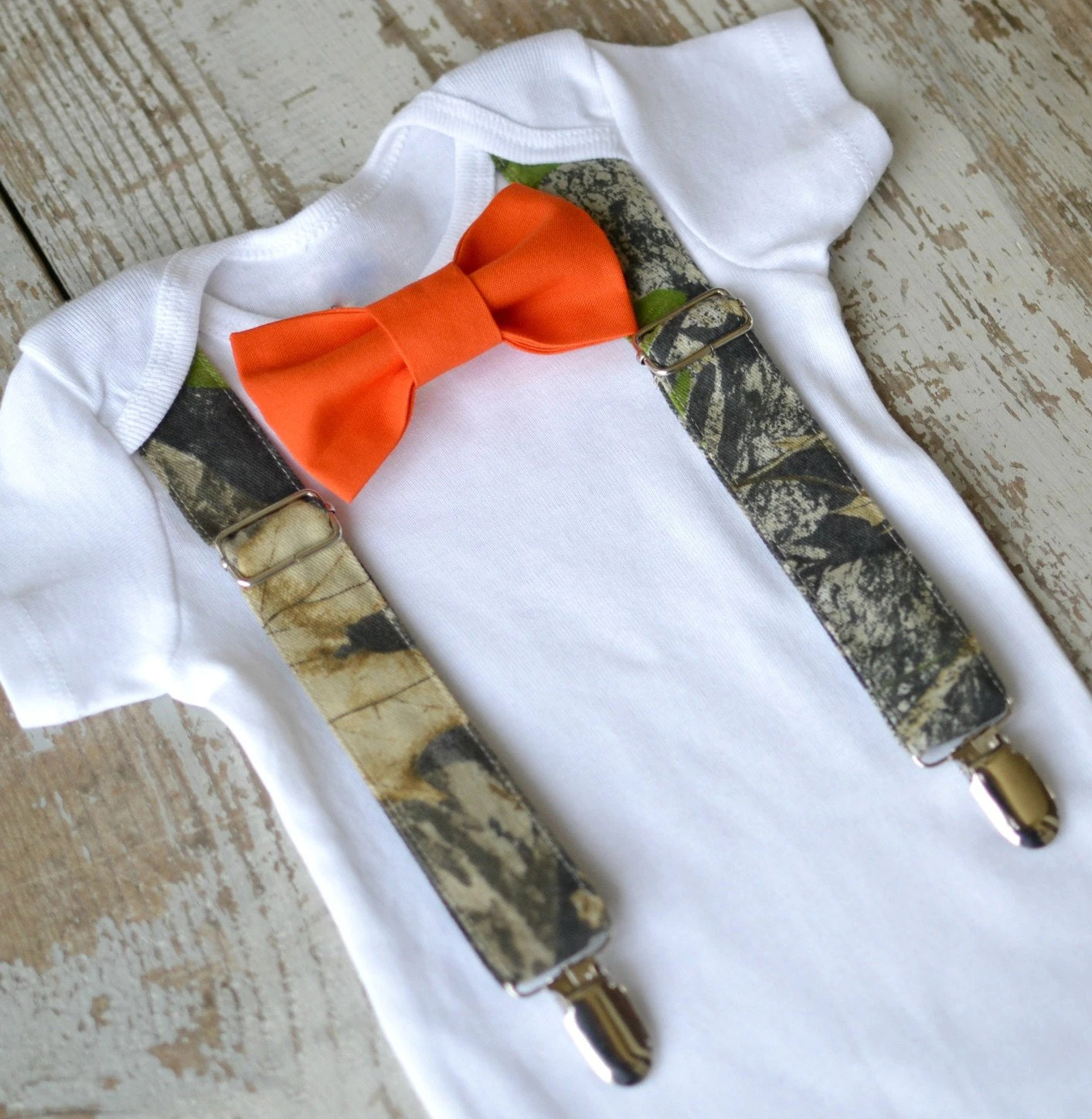 toddler camo vest orange wedding rings Baby Boy Clothes Camo Suspenders Orange Bow Tie Boys Camouflage Tuxedo First Birthday Coming Home Outfit Deer Hunter Ring Bearer Wedding