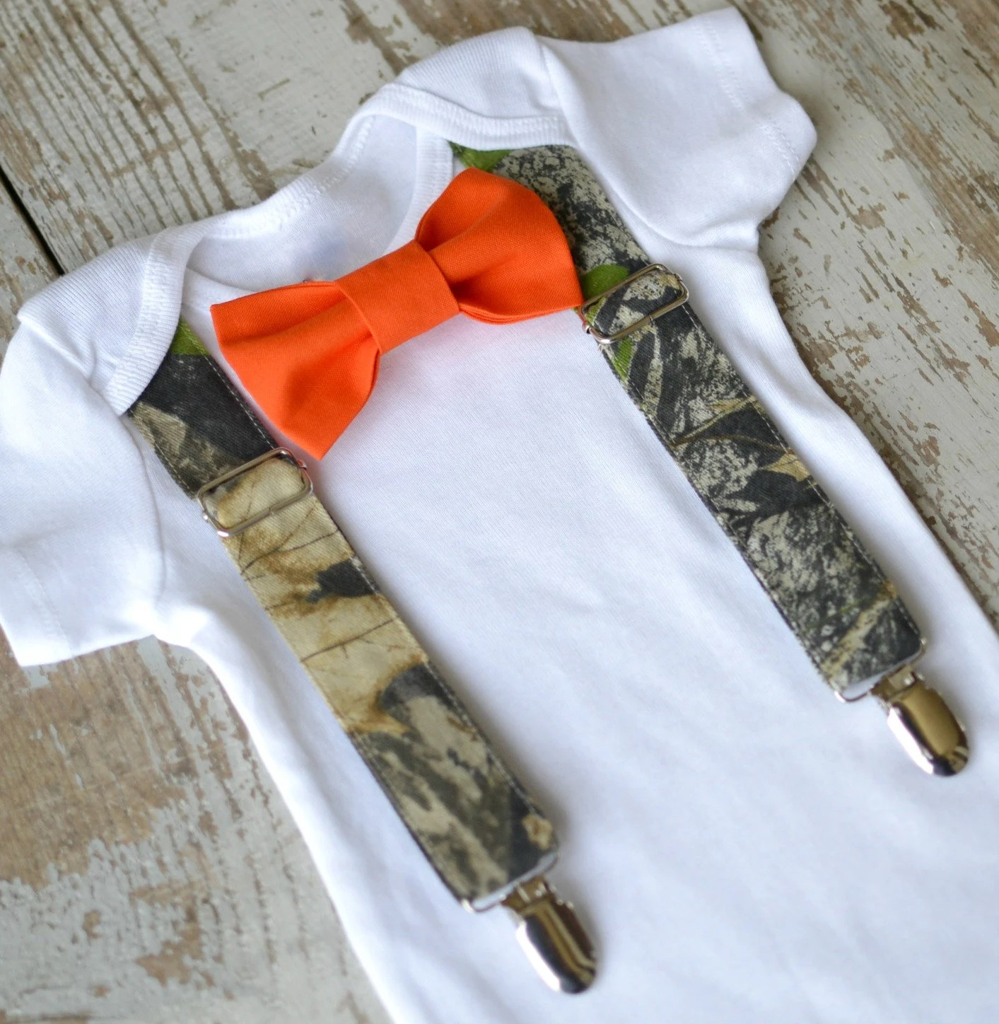 camo wedding vest hunting wedding bands Baby Boy Clothes Camo Suspenders Orange Bow Tie Boys Camouflage Tuxedo First Birthday Coming Home Outfit Deer Hunter Ring Bearer Wedding