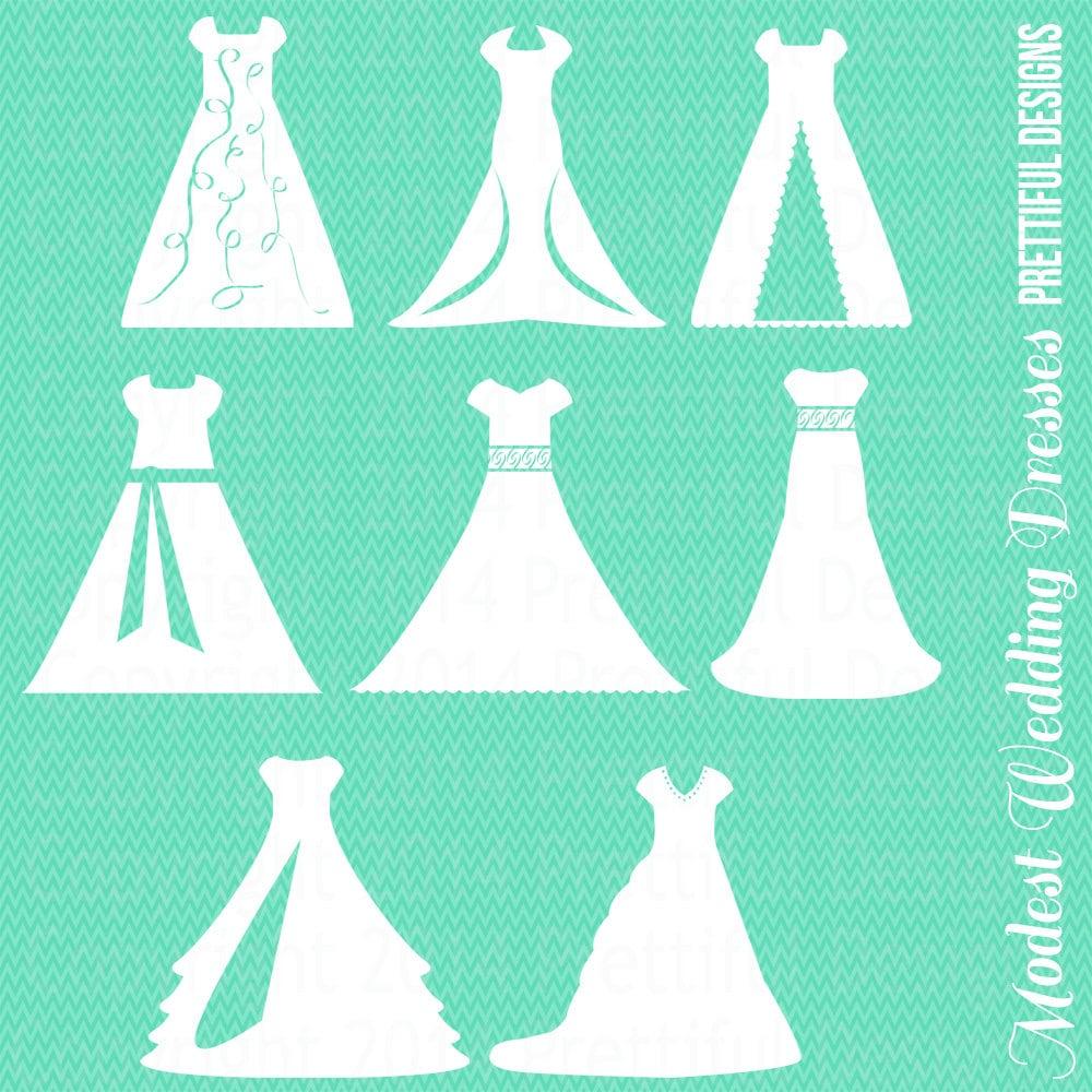 modest wedding dress mormon wedding dresses Modest Wedding Dress Clipart Temple LDS Mormon Clip Art png eps svg Vector