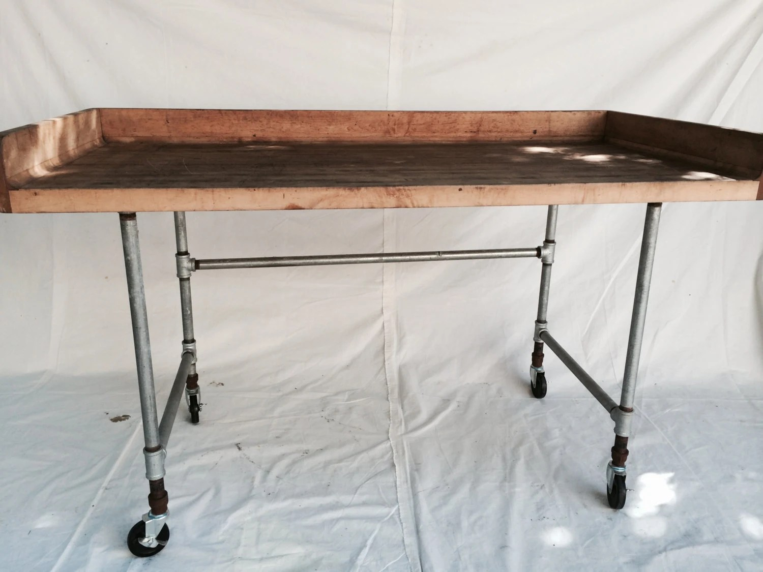 industrial butcherr block table kitchen kitchen prep tables zoom