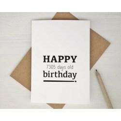 Terrific Th Birthday Card Happy Days Birthday Ny Birthday Card Birthday Card 20th Birthday Ideas Boston 20th Birthday Ideas Pinterest