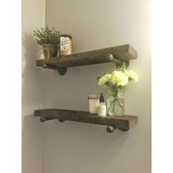 Small Crop Of Wood Bathroom Shelf