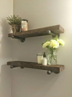 Small Of Wood Bathroom Shelf