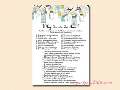 Why do we do that wedding tradition quiz Mason Jars Bridal