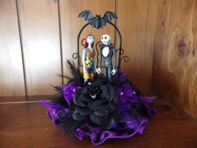 Nightmare Before Christmas Wedding Cake topper Sally Jack