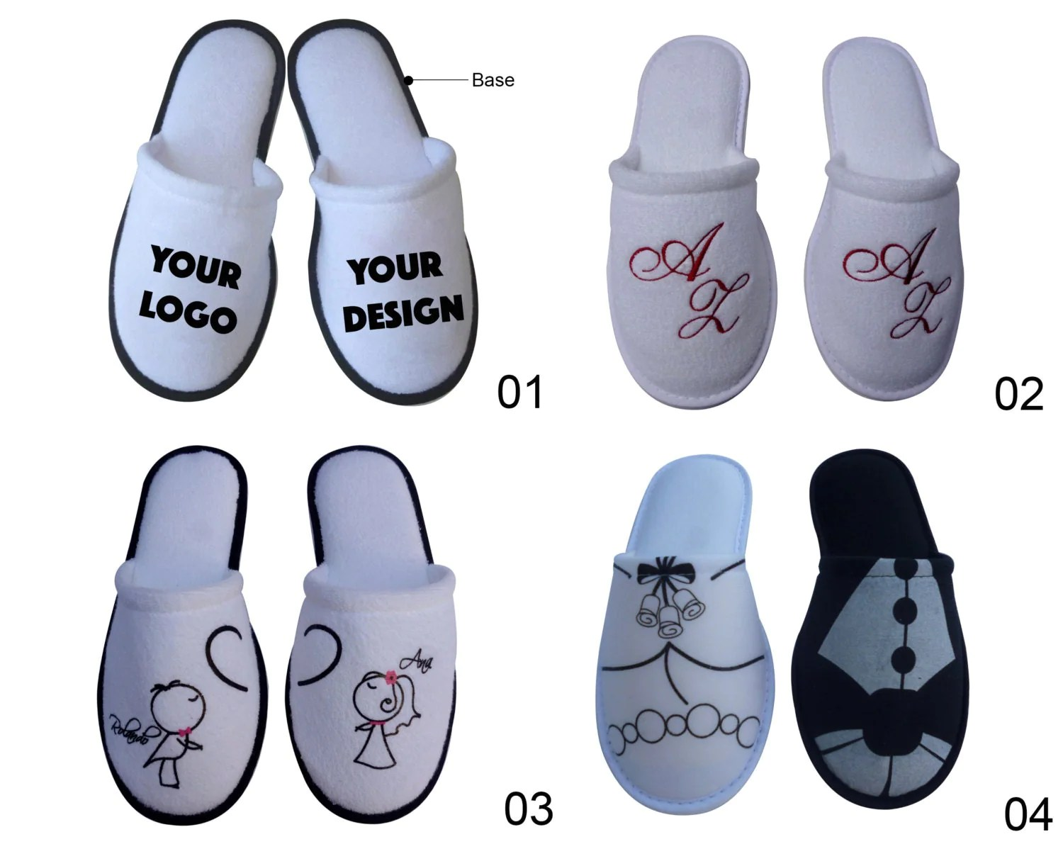 guest slippers wedding slippers 50 pairs Personalized Slippers for Party Guests Wedding Sweet 16 Anniversary BULK