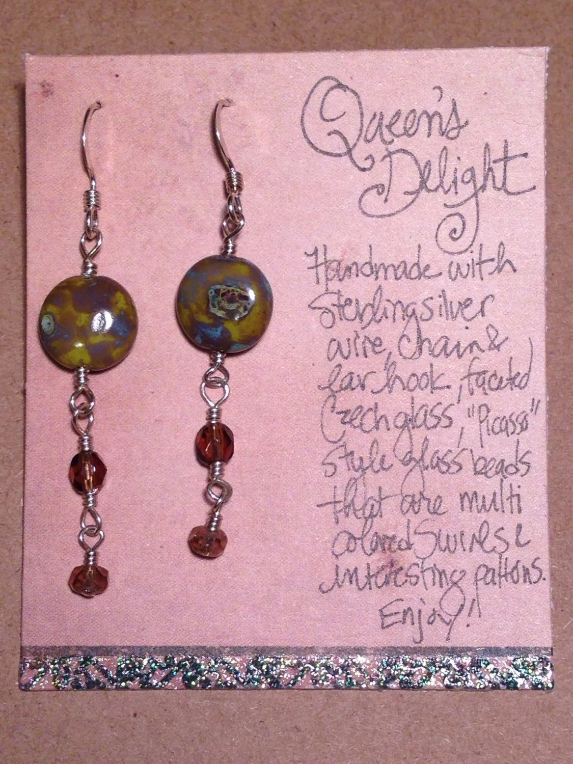 "Earrings ""Queen's Delight"""