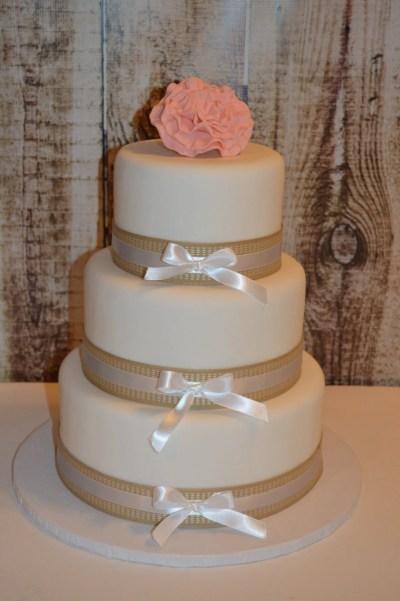 3 Tier Fondant Faux Wedding Cake Fake Wedding Cake Display