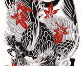 SALE! Japanese Eagle Prin...