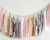 Silver pink tassel garlan...