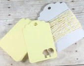 Soft spring sunshine: Light Yellow Elephant Baby Shower Tags Set of 20 - Yellow Shower Favors - Shower Gift Tags - Blank Elephant Labels - Lemon Neutral Tags